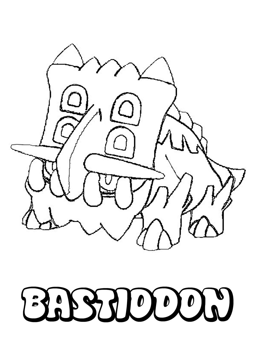 Coloriages bastiodon - Coloriage pokemon brasegali ...