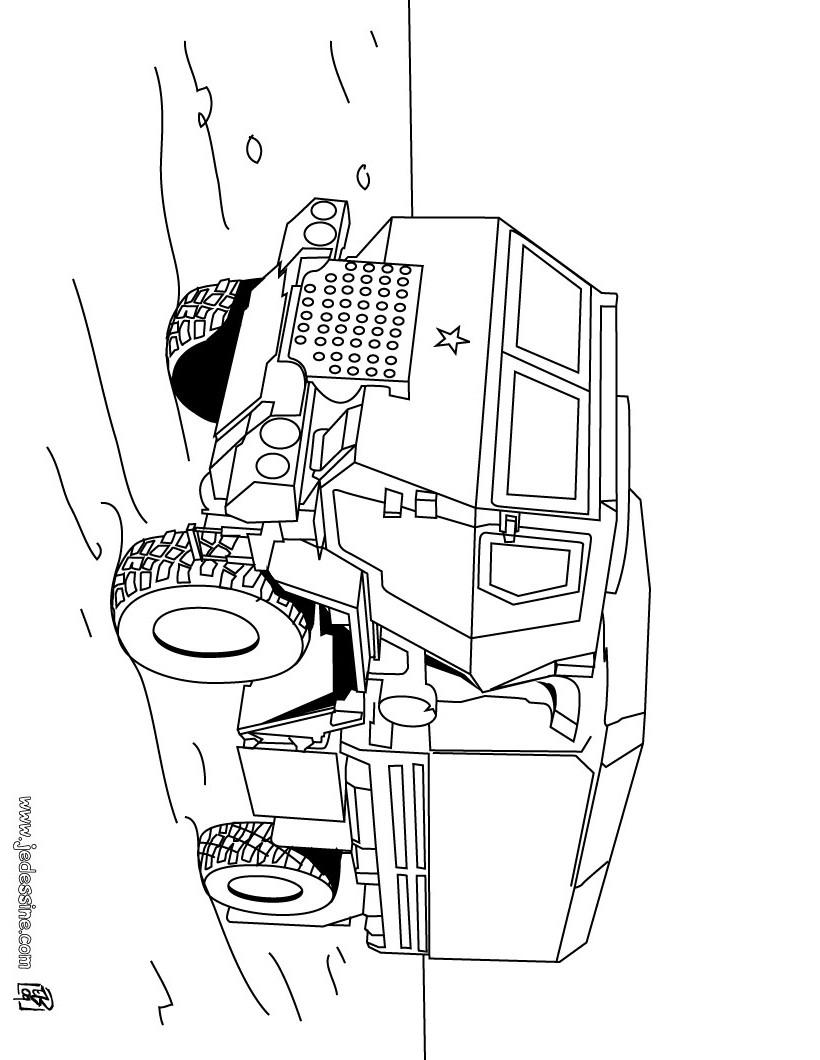 unimog coloring pages | coloriage militaire a imprimer