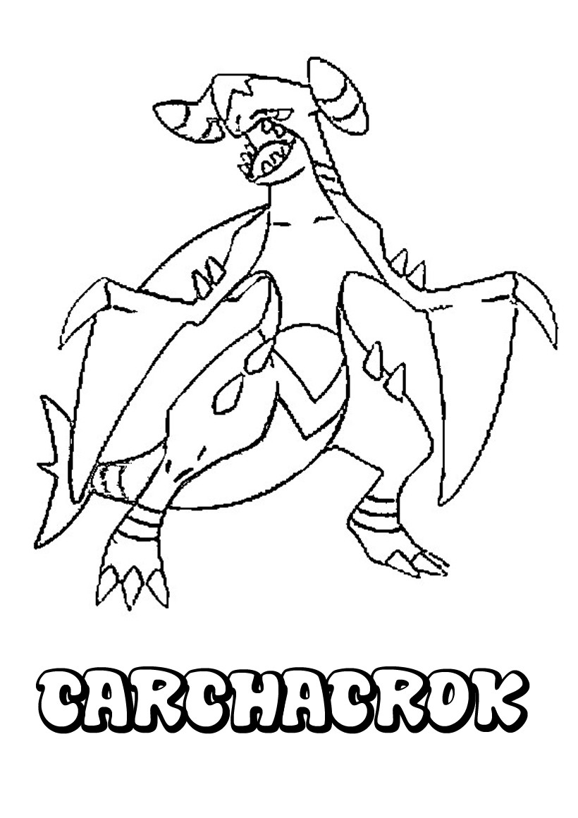 Coloriages carchacrok - Coloriage carte pokemon ...