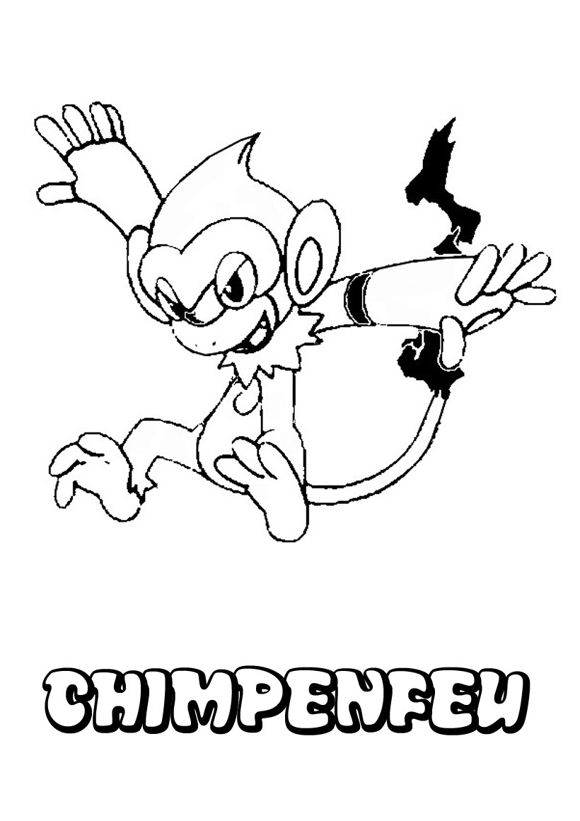 Coloriages chimpenfeu - Coloriage pokemon en ligne ...