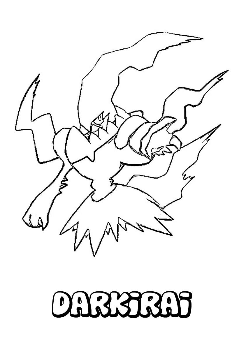 Coloriages darkrai - Coloriage pokemon imprimer ...