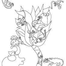 Coloriage d'animaux de la jungle - Coloriage - Coloriage A IMPRIMER - Coloriage A IMPRIMER STICKERS