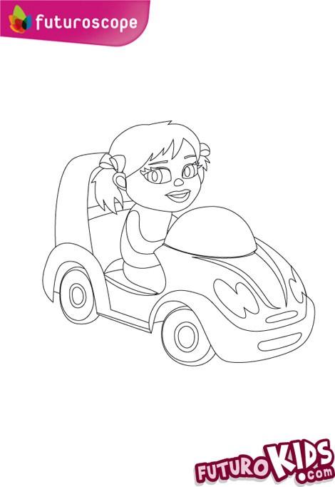 Coloriage futuroscope coloriage d 39 une mini voiture de fille - Coloriage voiture mini cooper ...