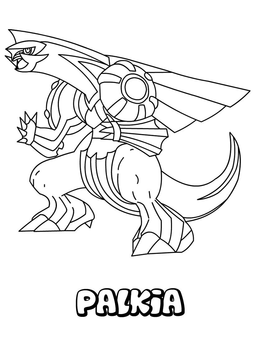 Pokemon Ausmalbilder Giratina : Pokemon Coloring Pages Palkia