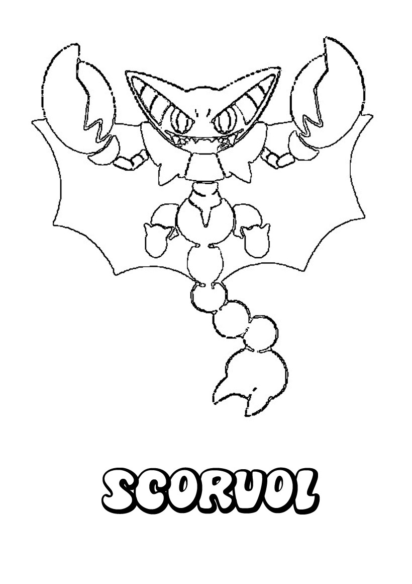 Coloriages scorvol - Coloriage pokemon en ligne ...