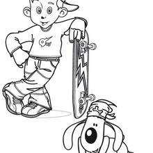 Coloriage d'un skater - Coloriage - Coloriage A IMPRIMER - Coloriage A IMPRIMER STICKERS