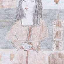 monalisa avec un caftan marocain - Dessin - Dessins et images des membres de Jedessine - Dessins