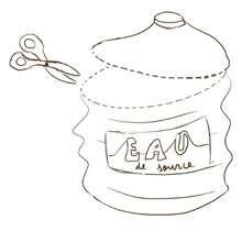 Bocal d'eau de source - Activités - BRICOLAGE ENFANT - Bricolage Ecolo avec Tipi-Kiwi - Les coloriages de Tipi-Kiwi