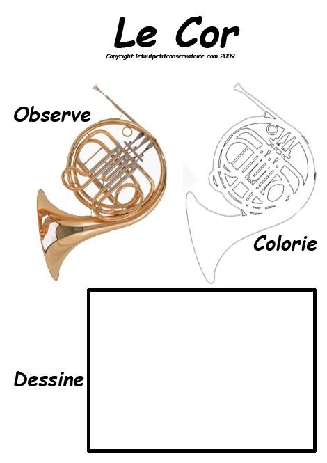 Coloriage d'un cor
