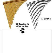 Coloriage d'une flûte de Pan - Coloriage - Coloriage GRATUIT - Coloriage INSTRUMENTS DE MUSIQUE