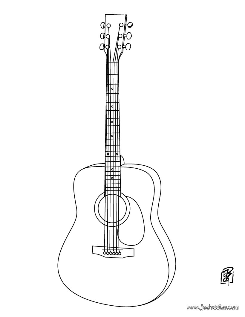 Coloriage : Guitare