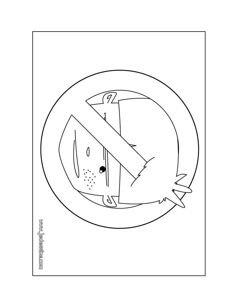 Coloriage de pancarte: Entrée interdite aux garçons!