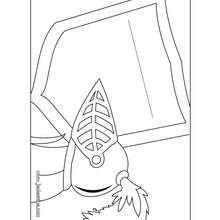 Coloriage de la pancarte de porte du chevalier
