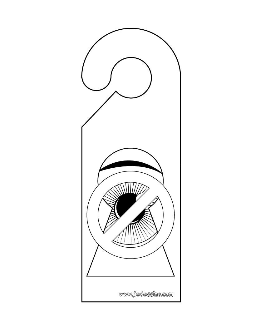 Coloriage de l'etiquette: ne pas espionner!