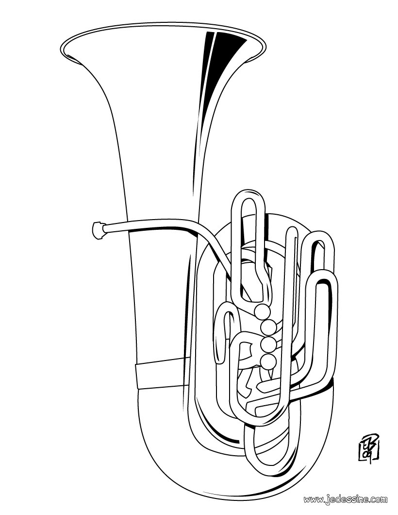 instruments coloring pages - photo#26