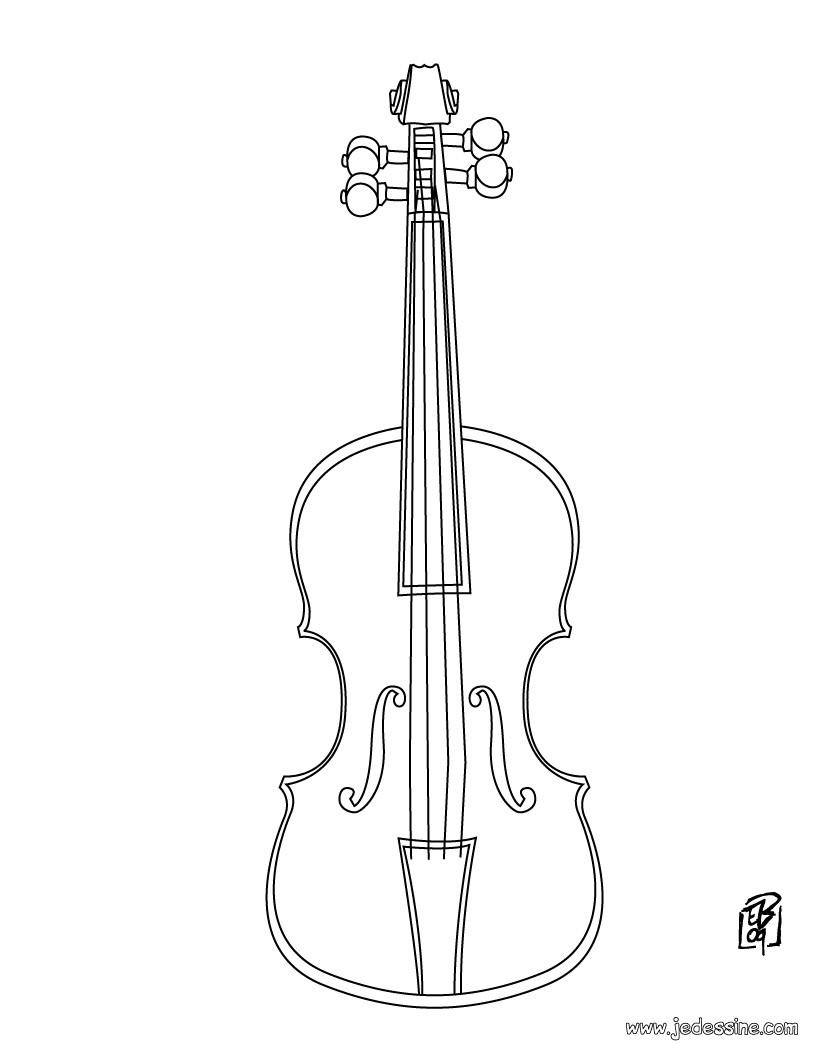 Dessin De Violon comment dessiner un violon
