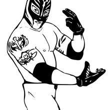 REY MYSTERIO le catcheur - Coloriage - Coloriages de CATCH