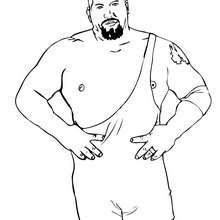 THE BIG SHOW avant un combat - Coloriage - Coloriages de CATCH
