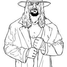 Coloriage du catcheur THE UNDERTAKER - Coloriage - Coloriage CATCH - Coloriage CATCH THE UNDERTAKER
