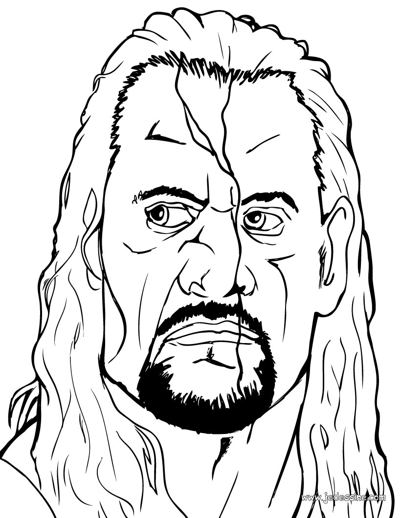 Coloriages le visage de the undertaker - Coloriage visage ...