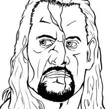 Le visage de THE UNDERTAKER - Coloriage - Coloriages de CATCH
