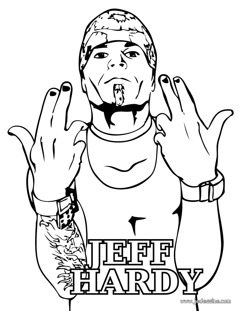Coloriages poster de jeff hardy - Poster coloriage ...