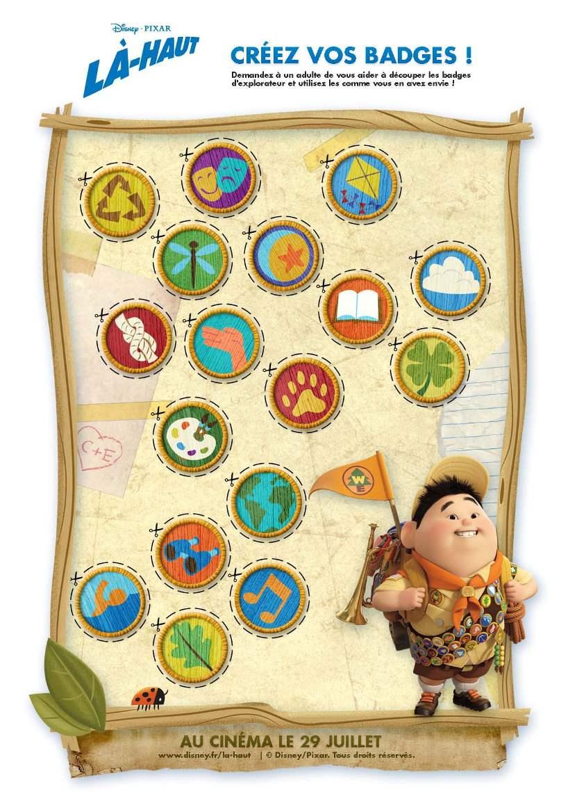 Activité : Badges d'aventurier - Là-Haut