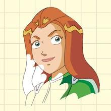 Dessine le visage de Sam - Dessin - Apprendre à dessiner - Totally Spies : Apprends à dessiner tes héroïnes préférées