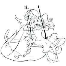 Coloriage de Princesse Miya n°3