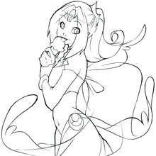 Coloriage de Princesse Miya n°4