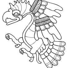Coloriage d'un aigle - Coloriage - Coloriage ANIMAUX - Coloriage ANIMAUX PRE HISPANIQUES