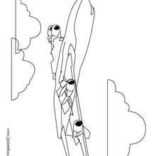 Coloriage d'un avion de ligne - Coloriage - Coloriage VEHICULES - Coloriage AVION - Coloriage AVION DE LIGNE
