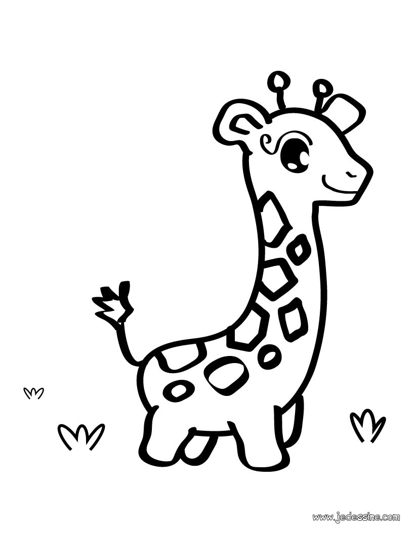 Coloriages coloriage d 39 une girafe - Dessins girafe ...