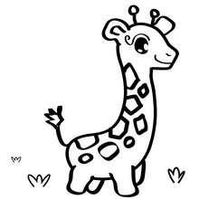 Coloriage d'une girafe - Coloriage - Coloriage GRATUIT - Coloriage GRATUIT POUR LES PETITS