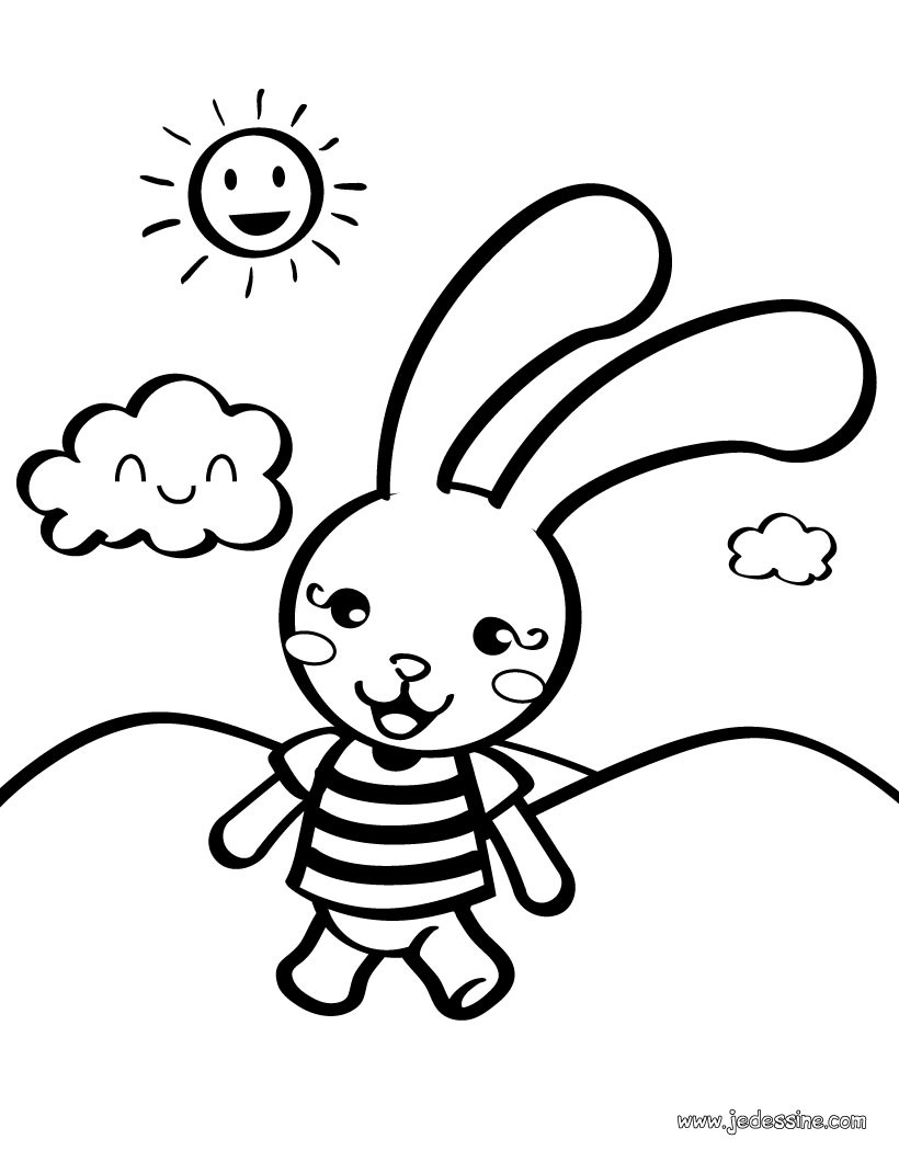 Coloriages petit lapin - Photo de lapin a imprimer ...