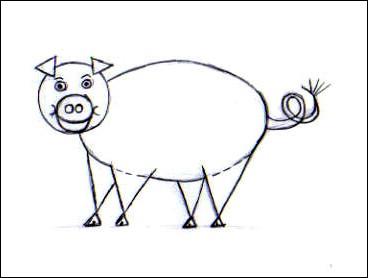 Comment dessiner un cochon - Cochon a dessiner ...