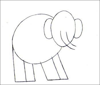 Comment Dessiner Un Elephant Fr Hellokids Com