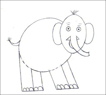 Comment dessiner un l phant - Elephant en dessin ...