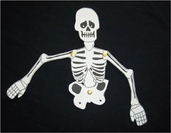 Le squelette d'Halloween - Activités - BRICOLAGE HALLOWEEN - Le squelette articulé d'Halloween