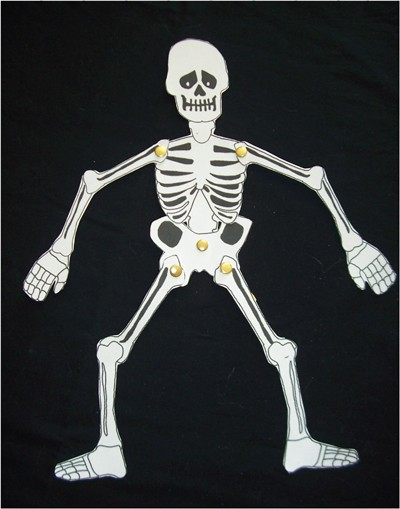 Très Activités manuelles le squelette articulé d'halloween - fr  DA13