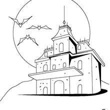Coloriage Chateau Halloween 16 Coloriages Dhalloween