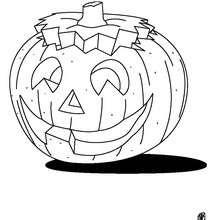 Coloriage d'Halloween : Coloriage d'une citrouille d'Halloween