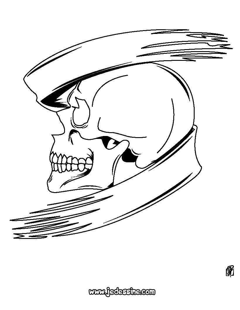 Crâne Coloriages Dessins Pour Les Enfants Lire Et