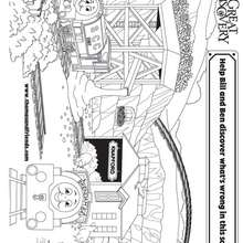 Coloriage de Bill et Ben - Coloriage - Coloriage DESSINS ANIMES - Coloriage THOMAS LE PETIT TRAIN