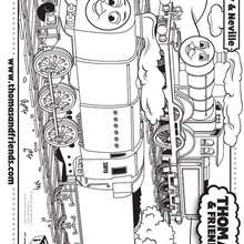 Coloriage de Molly et Neville - Coloriage - Coloriage DESSINS ANIMES - Coloriage THOMAS LE PETIT TRAIN