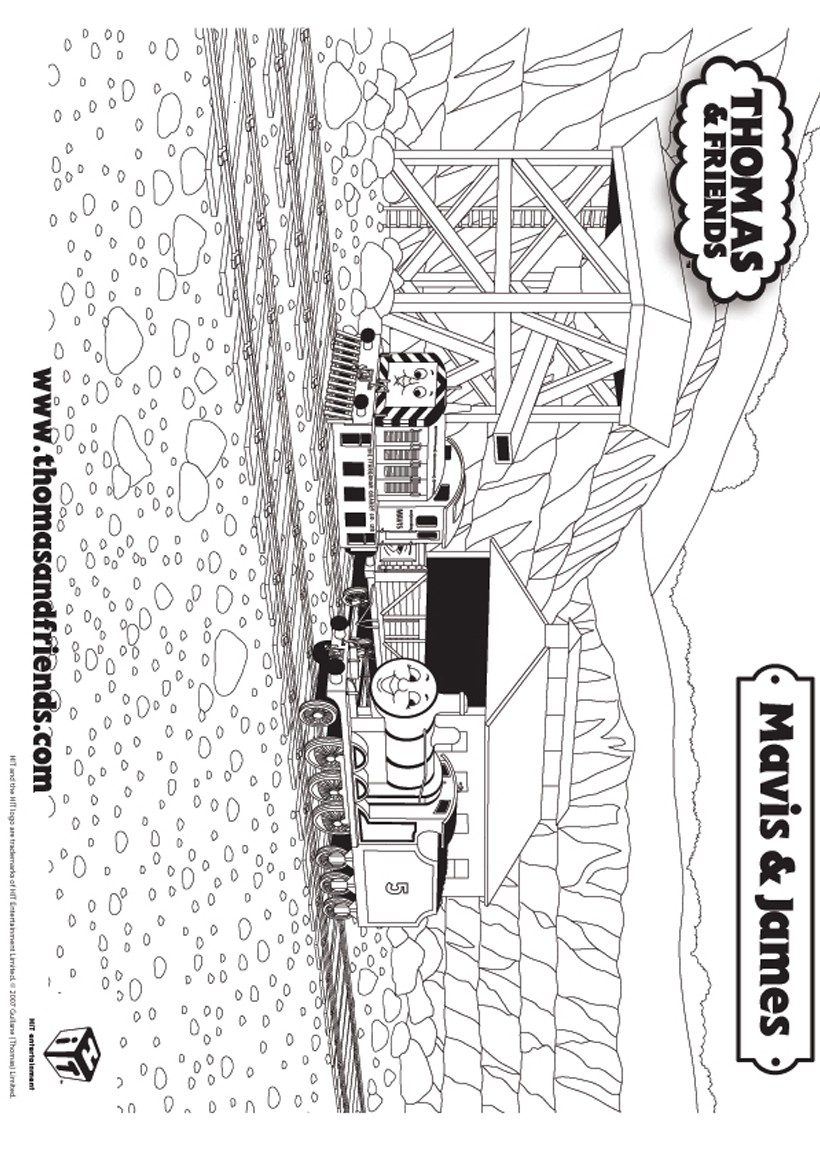 Coloriage de mavis et james thomas le petit train picture - Thomas le petit train coloriage ...
