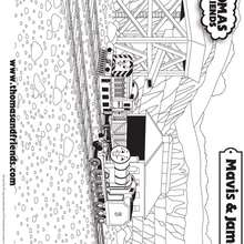 Coloriage de Mavis et James - Coloriage - Coloriage DESSINS ANIMES - Coloriage THOMAS LE PETIT TRAIN