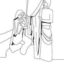 Coloriage de Jésus et ses parents - Coloriage - Coloriage FETES - Coloriage NOEL - Coloriage PERSONNAGES RELIGIEUX - Coloriage JESUS - Coloriage JESUS CHRIST