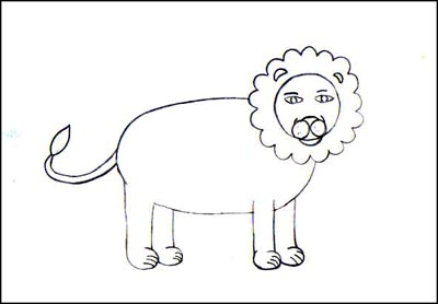 comment dessiner un lion facile