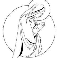 Coloriage de la Vierge Marie - Coloriage - Coloriage FETES - Coloriage NOEL - Coloriage PERSONNAGES RELIGIEUX - Coloriage VIERGE MARIE